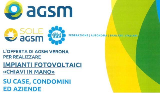 Convenzione AGSM Verona S.p.A. Impianto Fotovoltaico